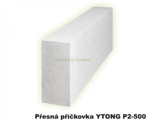 YTONG P2-500 75x249x599mm příčkovka KLASIK