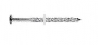 Hřebíky AL kroucené 55mm+PVC podložka