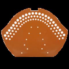Uzávěrka hřebene pvc-červená