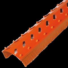 Větrací pás hřebene/kartáč/WK-S 17x7,5x100cm-červený