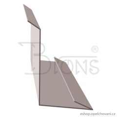 AL-lem ke zdi 2m-černá r.š.250mm